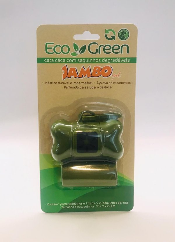 Kit Porta Saquinho Bio Eco Green 2 Rolos