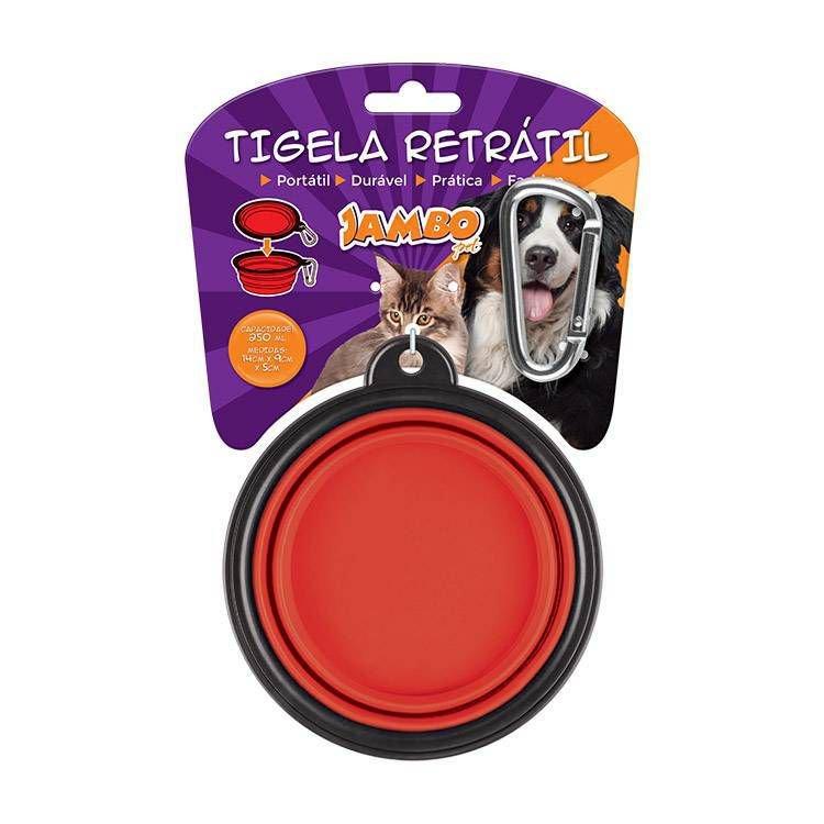 Tigela Plastica Retrátil Vermelha Media 250ml