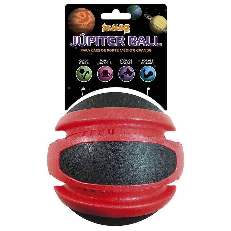 Brinquedo Jambo Bola Jupiter Mega Vermelha E Preta