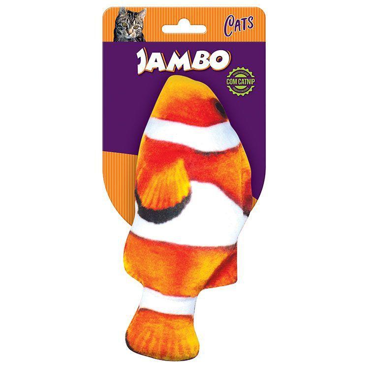 Brinquedo para Gato com Catnip Peixe Palhaço Jambo Pet