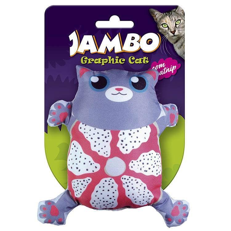 Brinquedo Para Gato Grafic Gato Cute Cinza Jambo