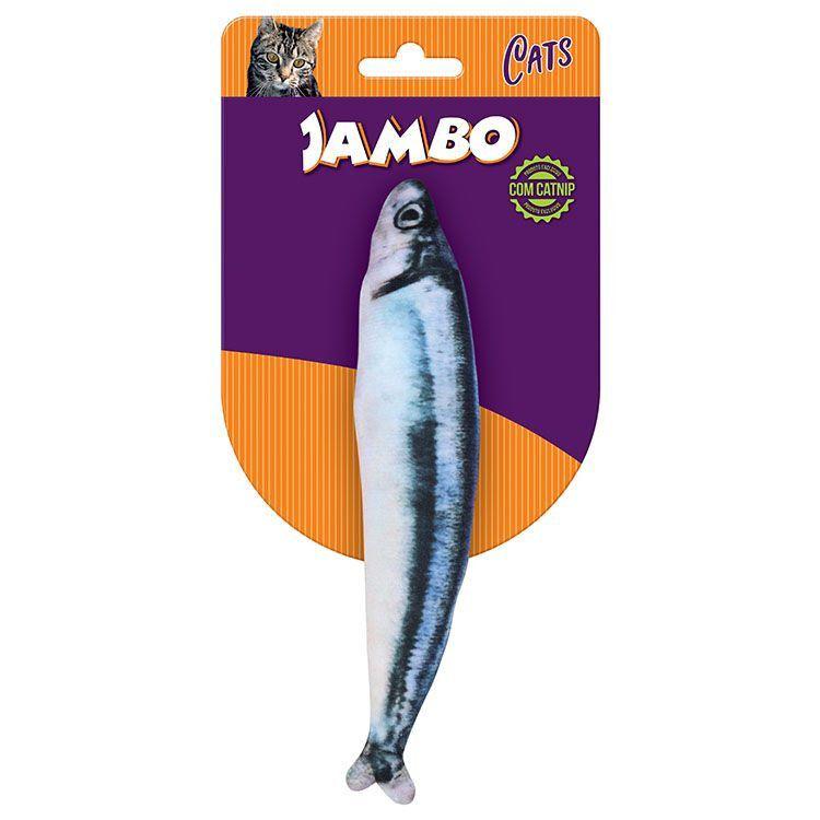 Brinquedo para Gato Peixe Real Sauro com Catnip