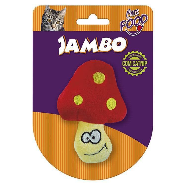 Brinquedo Para Gato Pelúcia Food Cogumelo com Catnip
