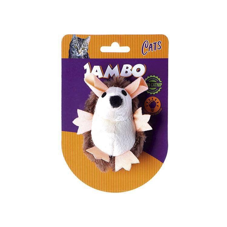 Brinquedo Para Gato Pelúcia Ouriço Brilhante Jambo