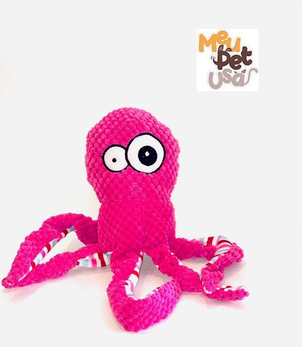Brinquedo Mordedor pelúcia Jambo para Cães Octopus Rosa