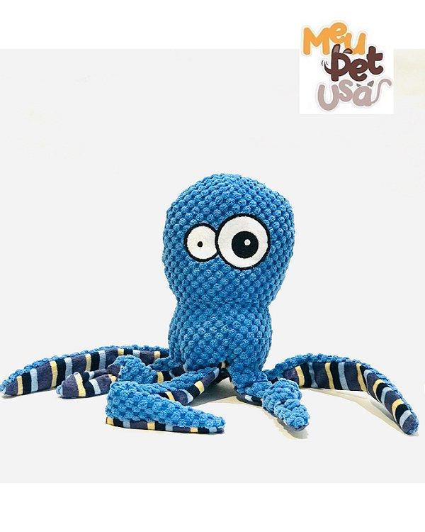 Brinquedo Mordedor pelúcia Jambo para Cães Octopus Azul