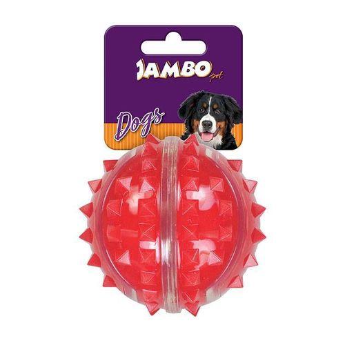 Bola Dura com Espinho Vermelha Jambo Pet - Tam: Média