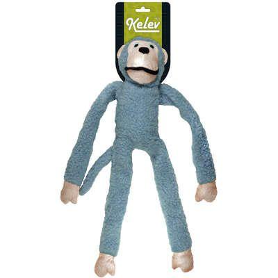 Brinquedo Mordedor Pelucia Macaco Grande Azul Kelev Jambo Pet