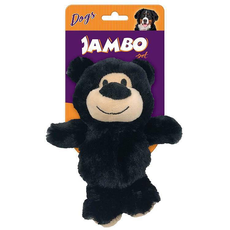 Brinquedo Para Cachorros Pelúcia Happy Bear Preto Jambo Pet