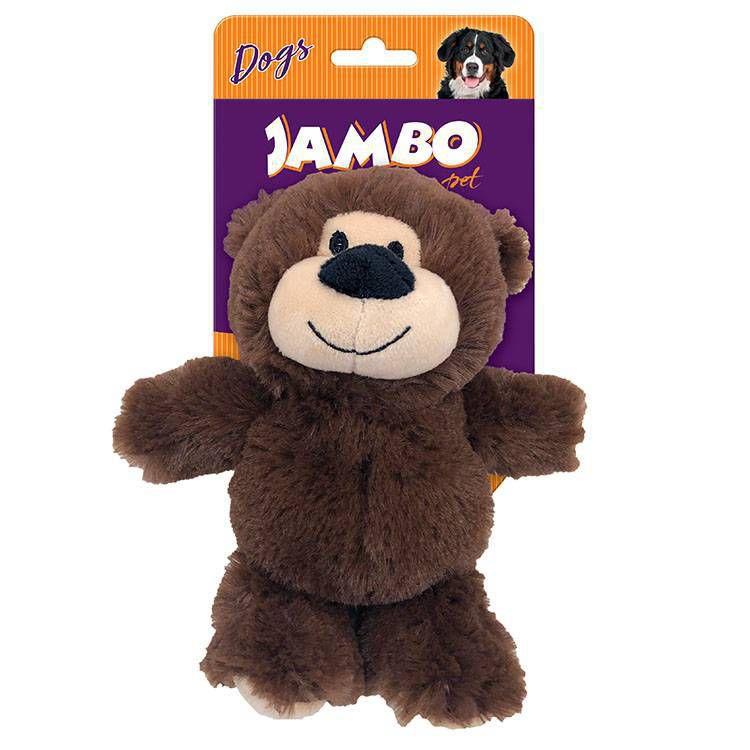 Brinquedo Para Cachorros Pelúcia Happy Bear Marrom Jambo