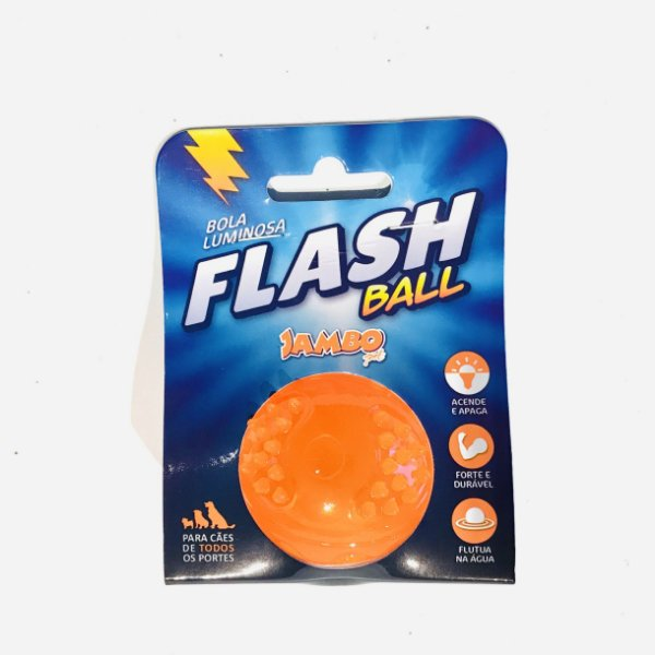 Bola Luminosa Flash Ball Laranja Jambo Pet