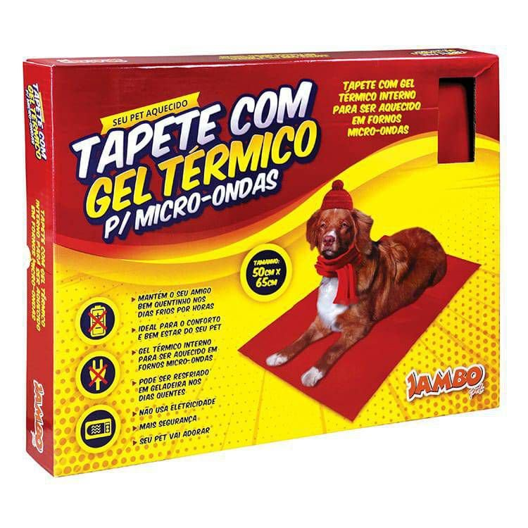 Tapete aquecido para Pet tamanho Grande 50x65 Jambo pet