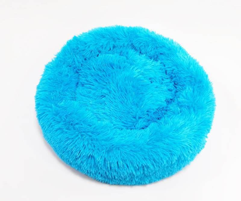 Cama para Pet em pelúcia tamanho médio 60Cm Jambo Pet Azul