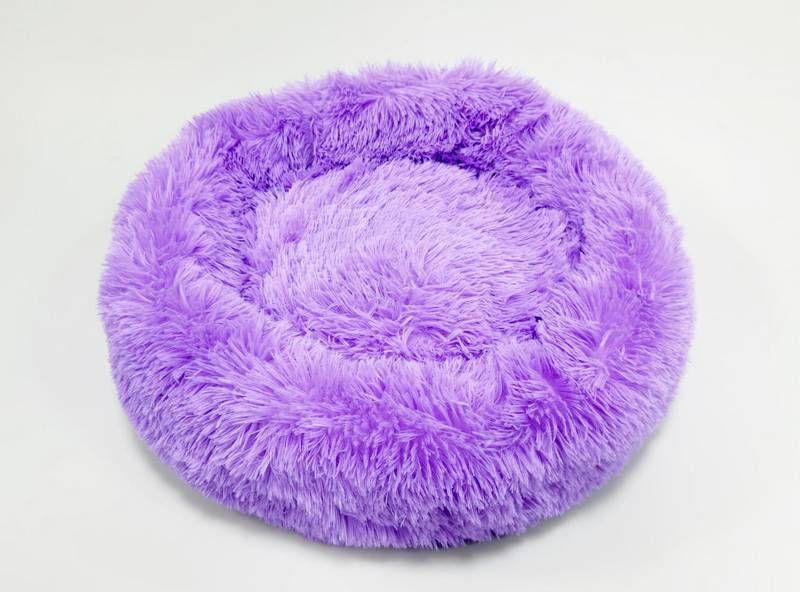 Cama para Pet em pelúcia tamanho médio 60Cm Jambo cor Lilas