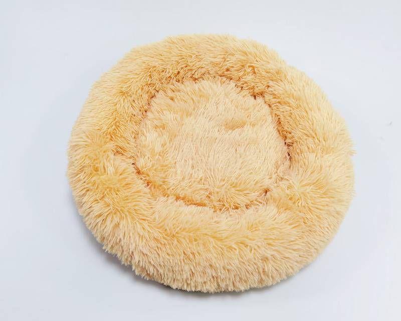 Cama para Pet em pelúcia tamanho médio 60Cm Jambo cor Bege