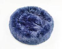 Cama para Pet em pelúcia tamanho Pequena 50 cm Jambo cor Azul escuro
