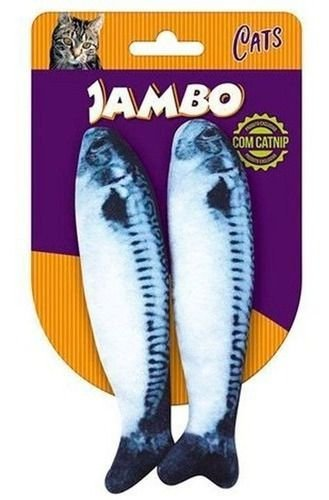 Brinquedo de Gato Peixe Real Sardines com Catnip com 2 unid.