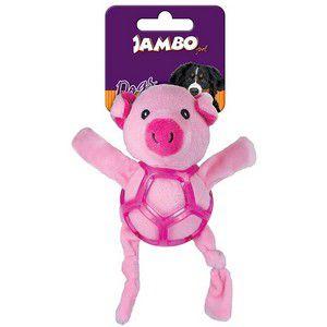 Brinquedo de Cachorro Pelúcia Net Ball Porco Jambo Pet