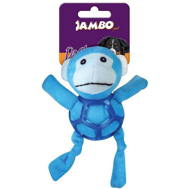 Brinquedo de Cachorro Pelúcia Net Ball Macaco Jambo Pet