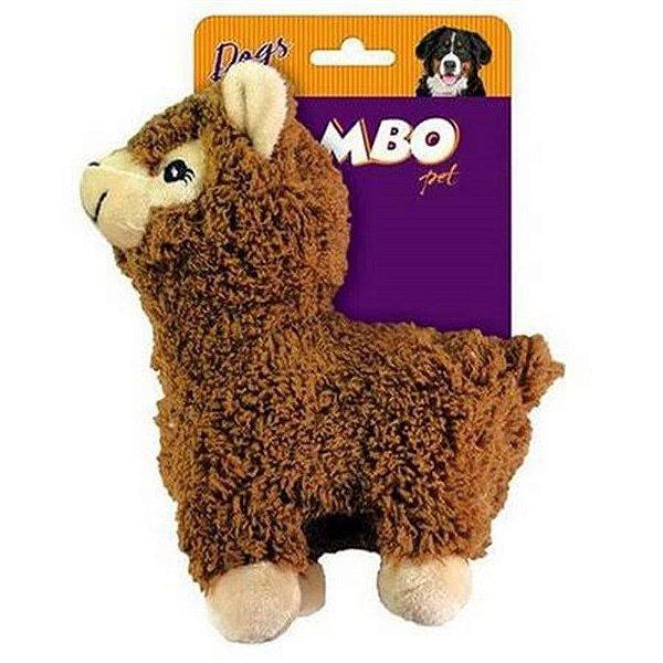 Brinquedo Para Cão Mordedor Pelúcia Lhama Marrom Jambo Pet