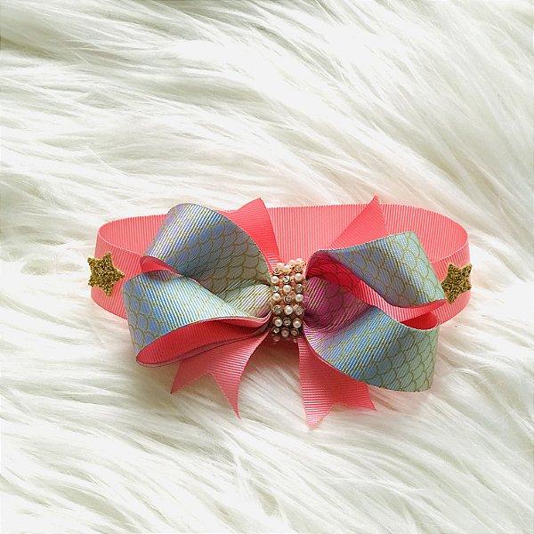 Gargantilha Pet Estrela Luxo com Velcro