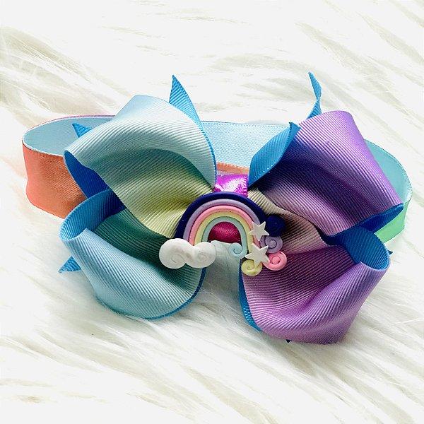 Gargantilha Pet Arco Iris Luxo com Velcro
