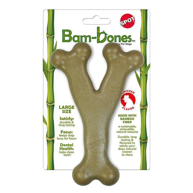 Mordedor de Cachorro Wishbone Bam-bones sabor Frango Grande