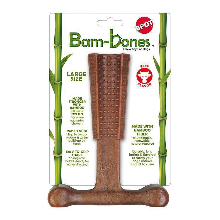 Mordedor de Cachorro T bambu Bam-bones Grande sabor Carne