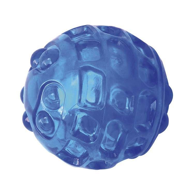 Brinquedo de Cachorro Bola Azul com apito Jambo Pet