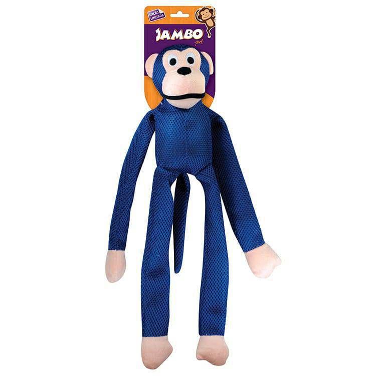 Brinquedo Mordedor Pelúcia Macaco Mesh Grande Azul Para Cães