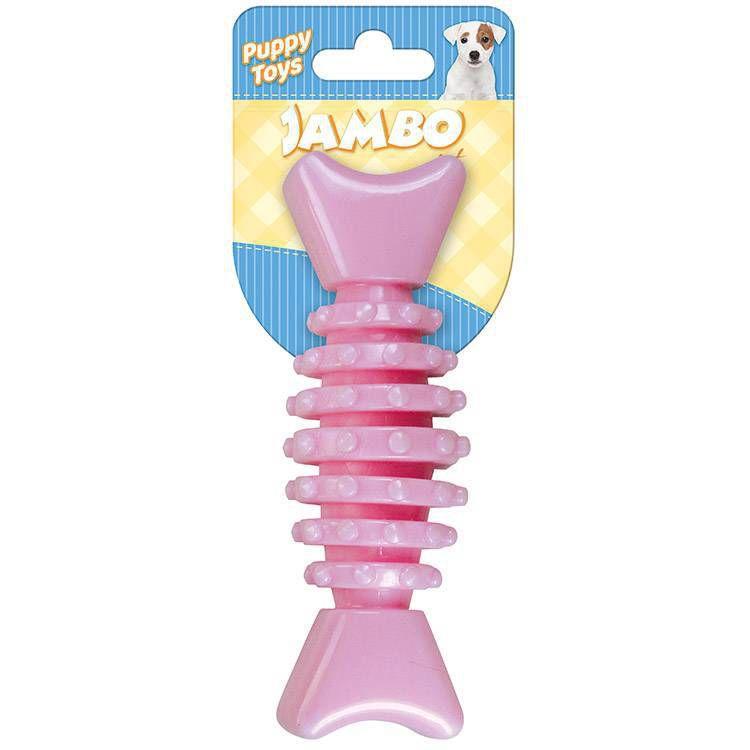 Brinquedo Mordedor Ossinho Baby Dental Rosa P/ Cães Filhotes