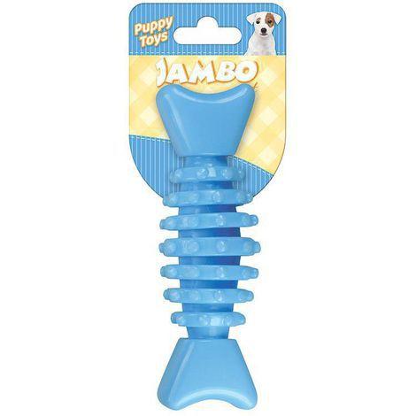 Brinquedo Mordedor Ossinho Baby Dental Azul P/ Cães Filhotes