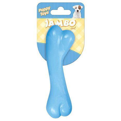 Brinquedo Mordedor Ossinho Baby Bone Azul Para Cães Filhotes