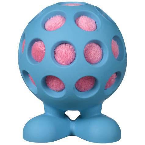 Brinquedo para Cachorro Bola Holle Cuz Médio Azul JW