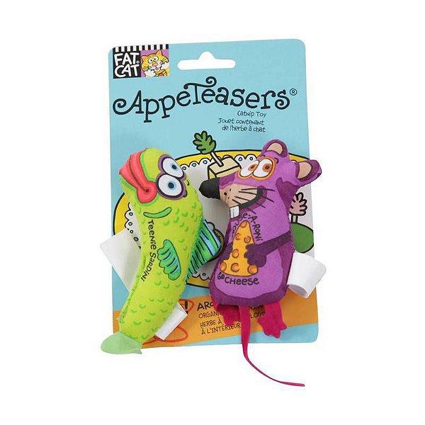 Brinquedo de Gato com Catnip Appeteasers Verde Roxo FatCat
