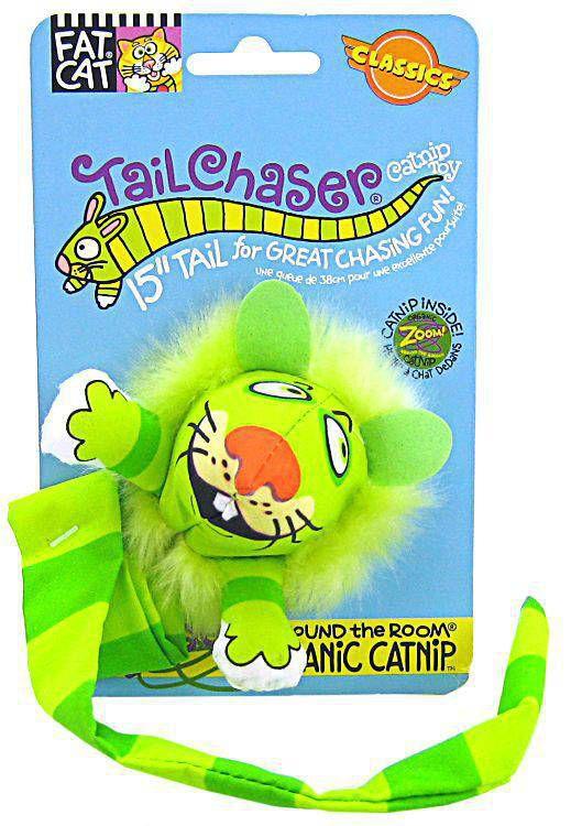 Brinquedo de Gato FatCat com Catnip Leão Tailchasers Verde