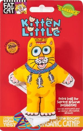 Brinquedo para Gato com Catnip FatCat Kitten Little Laranja