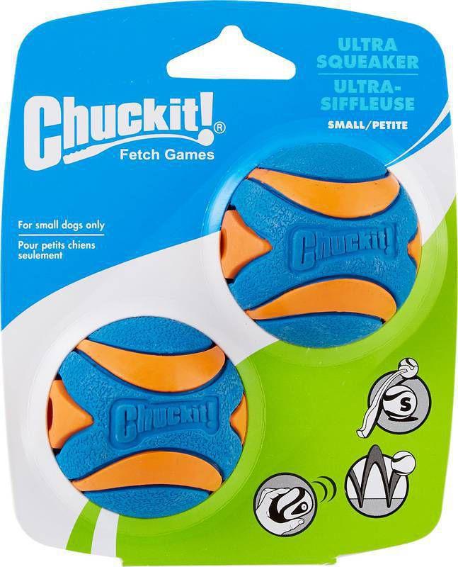 Brinquedo cachorro Bola Ultra Squeaker Apito 2un P Chuckit