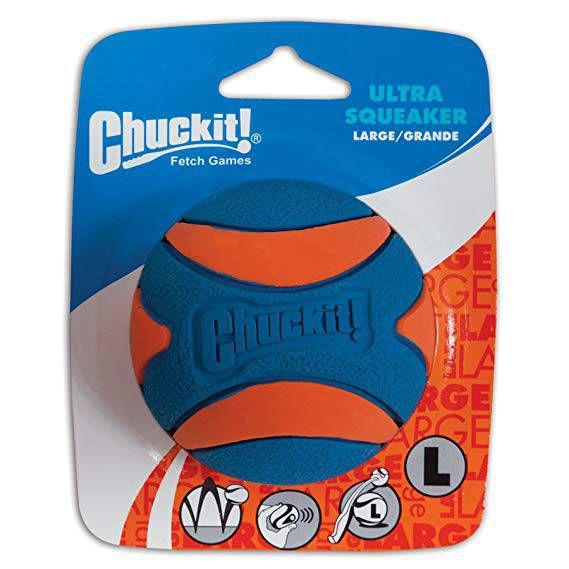 Brinquedo de cachorro Bola Ultra Squeaker Apito G Chuckit