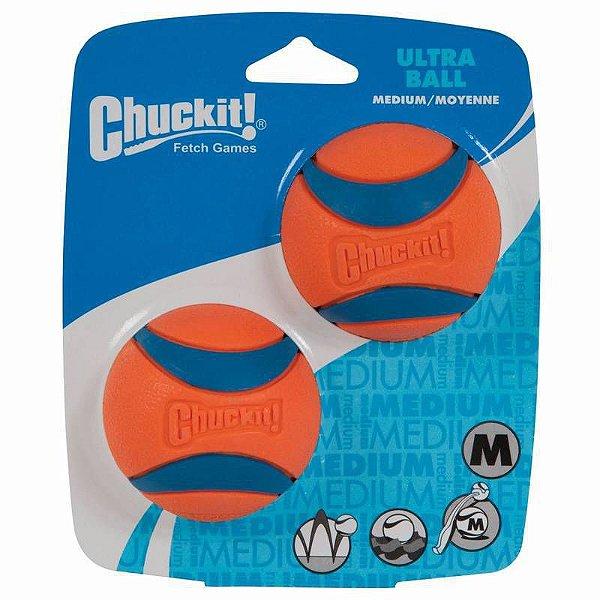 Brinquedo de cachorro Bola Ultra Ball 2Pk M Chuckit Laranja
