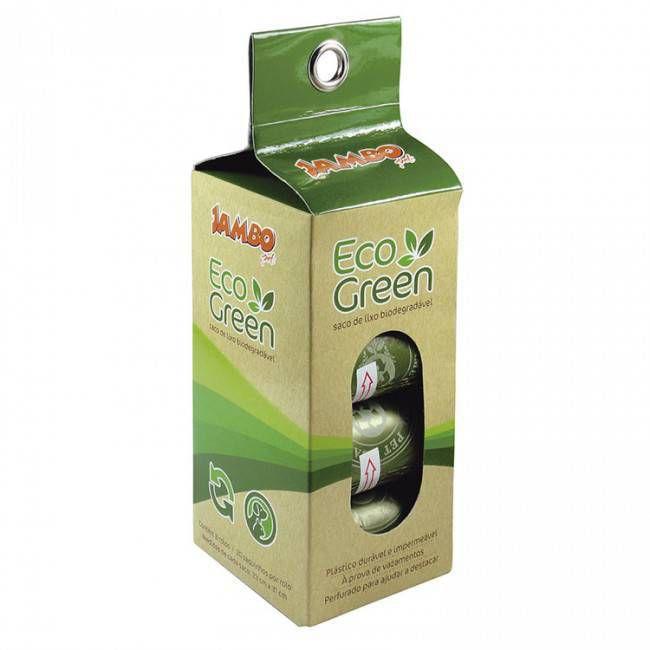 Saquinhos higiênicos Eco Green Biodegradáveis cx com 8 rolos