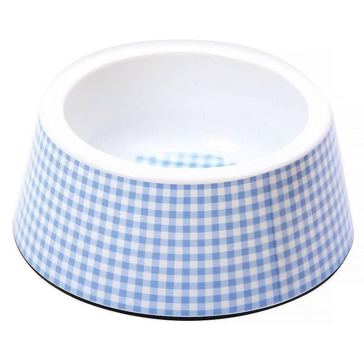 Tigela Comedouro para cachorro Vichy Azul 750ml JamboPet