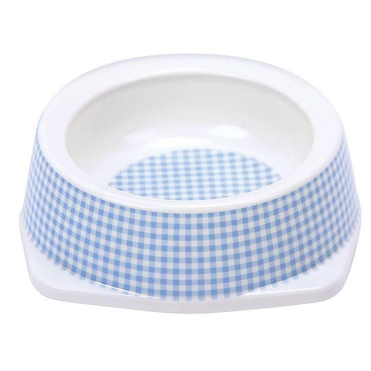 Tigela Comedouro para Gato Vichy Azul 110ml JamboPet
