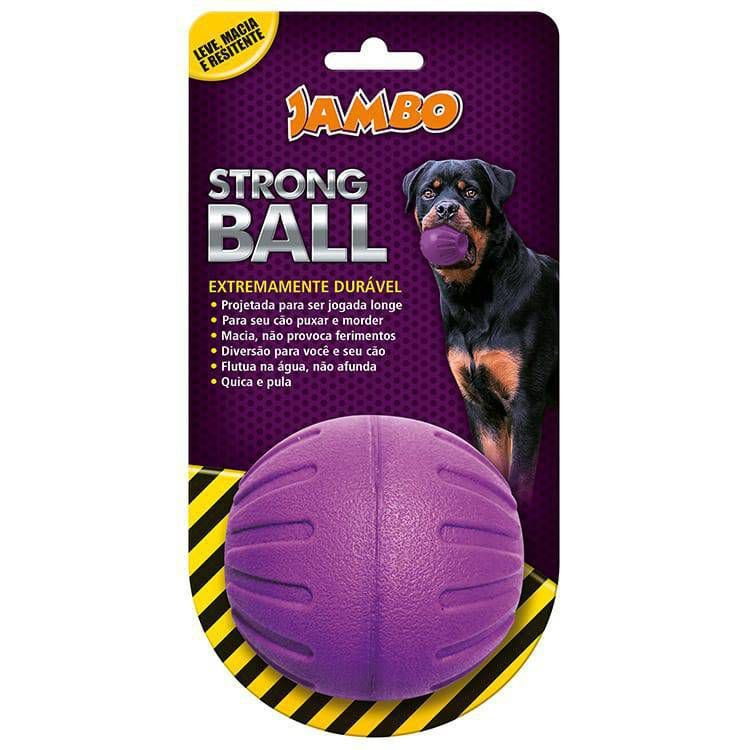 Brinquedo para Cachorro Bola Strong Ball Grande Roxa Jambo