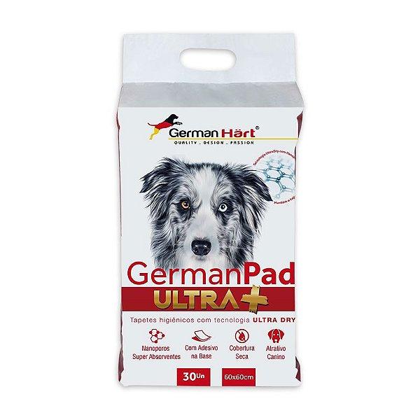 Tapete Higiênico GermanPad Ultra+ 60x60cm com 30 unidades