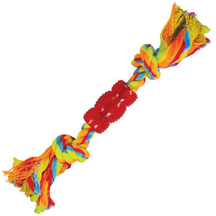 Brinquedo para Cachorro Mordedor Corda Rubber Bone Color