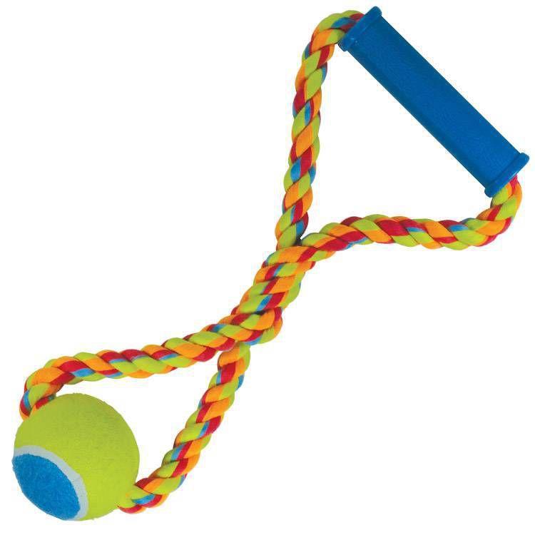 Brinquedo de cachorro Corda Puxa Bola Tênis Color Jambo Pet