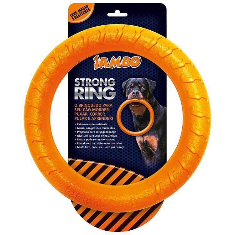 Brinquedo para cachorro Mordedor Anel Ring Strong Laranja