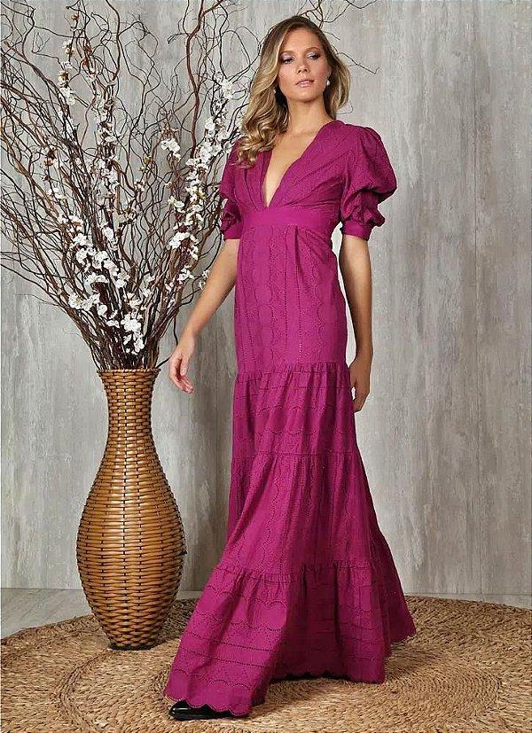 Vestido Longo Fresh Bianca em algodão Ave Rara Fashion
