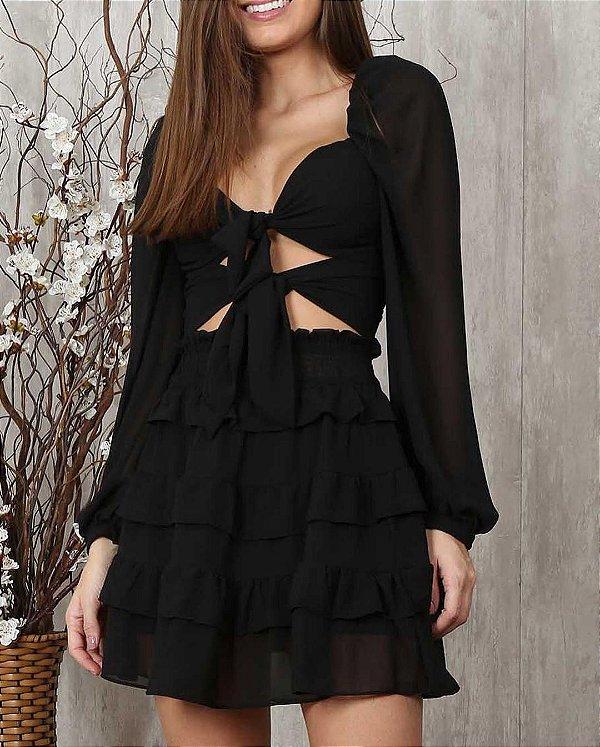 Conjunto em Chifom Laura  Ave Rara Fashion